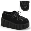 CREEPER-216 Black Vegan Suede